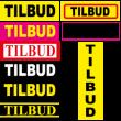 TILBUD firkant klistermærke