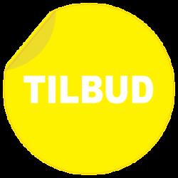 TILBUD rund klistermærke
